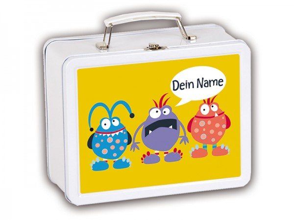 Kinderkoffer mit Motiv Little Monster mit Namen
