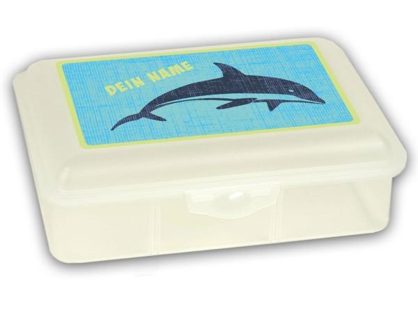 Brotdose groß mit Motiv Wild Ocean mit Namen